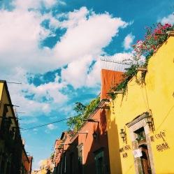 Casas vibrantes en/ vibrant houses in San Miguel de Allende, Mexico